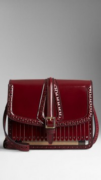 Sac Burberry house check de style Richelieu_bourgogne