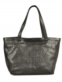 Sac See By Chloe cabas Zip file leather noir