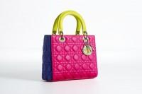 sac a main de luxe Lady dior_rose_bleu_jaune